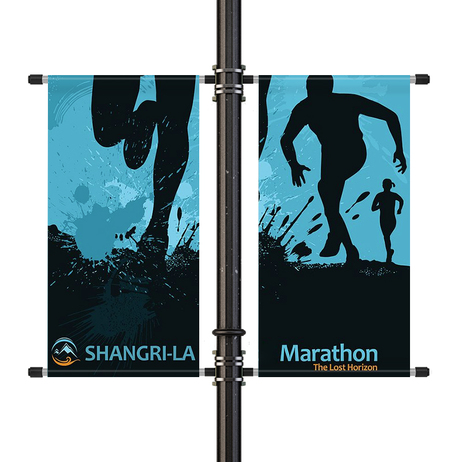 Double Sided Street Pole Banner Bracket