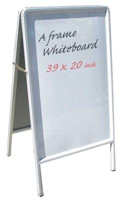A Frame Aluminum Sidewalk White Marker Board
