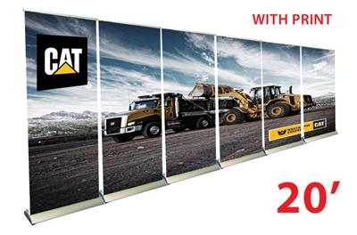 20ft Wall 33 Quot Premium Retractable Roll Up Banner Stands